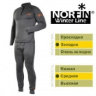 Термобілизна фліс. Norfin WINTER LINE GRAY (сіра1-й,2-й шар)